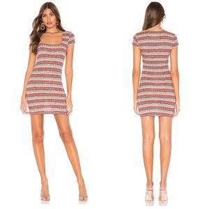 PRIVACY PLEASE Melanie Mini Dress in Multi Stripe